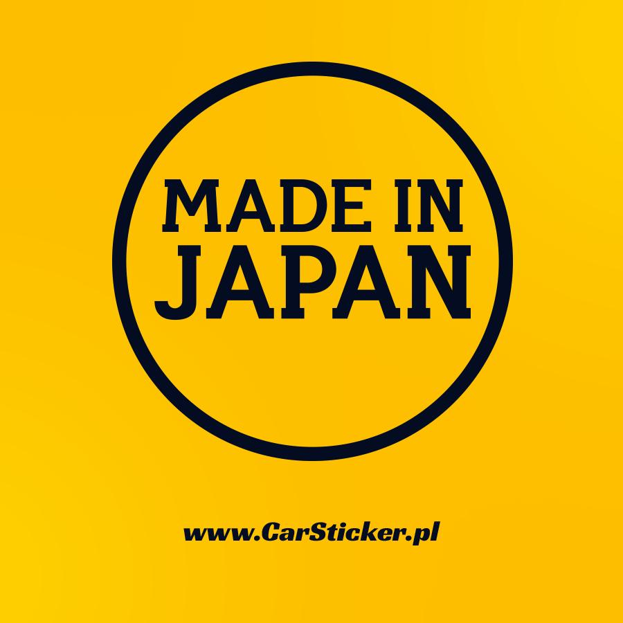 naklejka made in japan. Black Bedroom Furniture Sets. Home Design Ideas