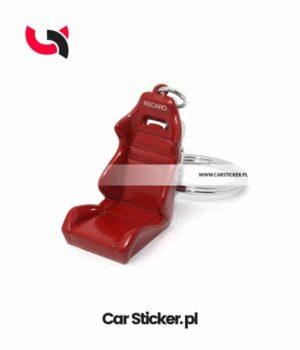 brelok-fotel-kubelkowy-recaro-czerwony