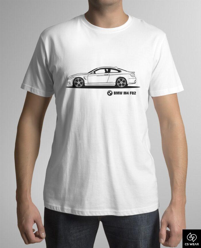 bmw-m4-f82-koszulka-biala